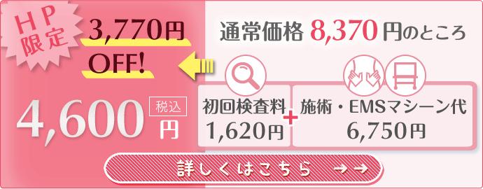 今なら3770円オフの4600円